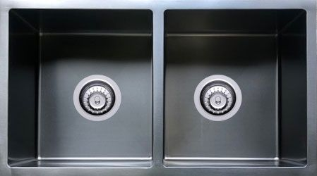 R10 Double Sink Undermount GUNMETAL