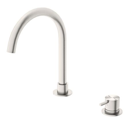 Mecca Hob Basin Mixer Rnd Spout B/Nickel