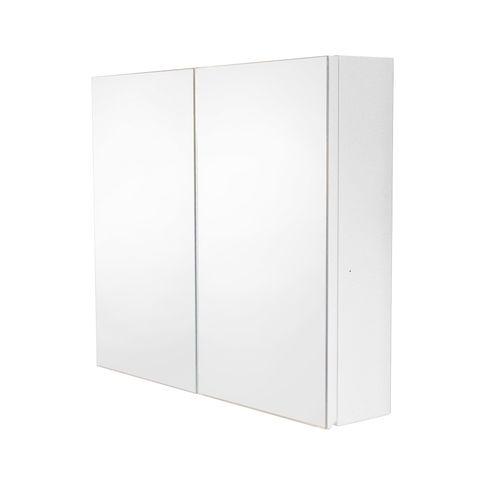 PVC Mirror Cabinet 600 White