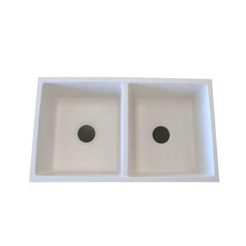 Granite Sink Double Undermount WHITE