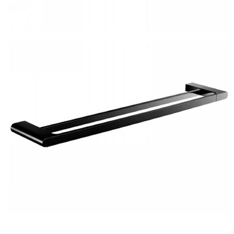 ECCO New 600mm Double Towel Rail M/Black