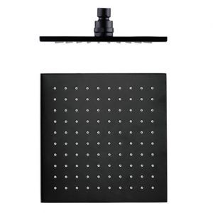 Matte Black 250 Square Rain Shower Head