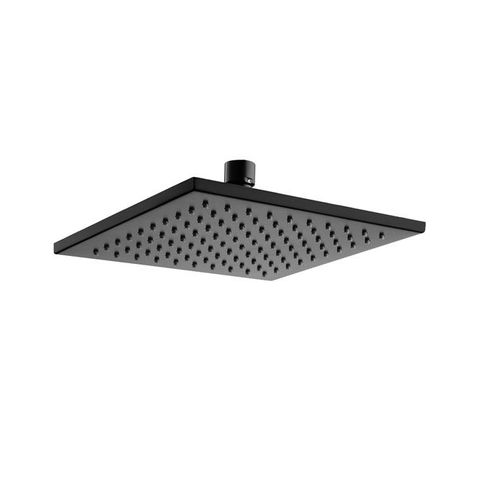 Matte Black 200 Square Rain Shower Head