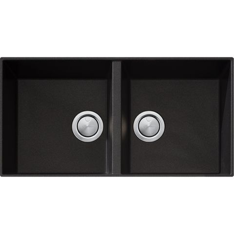 Santorini Black Double Bowl Undermount