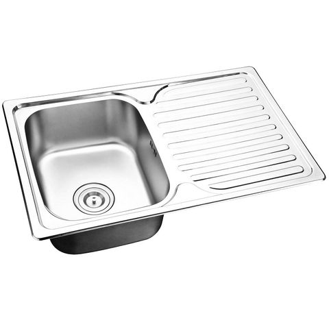 Mold Single Sink with Right Drain Plate
