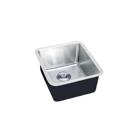Square Mold Pressed SINGLE Sink U/Mount