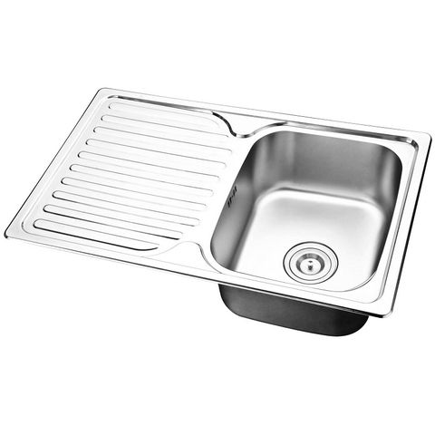 Mold Single Sink with Left Drain Plate