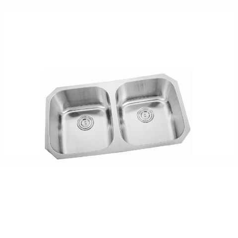 Mold Curved Double Sink Undermount