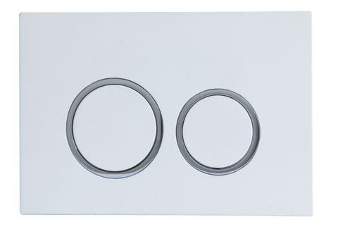 R&T Push Plate Round Button WHITE