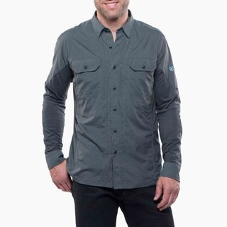 Kuhl Mens Airspeed Ls Shirt Carbon