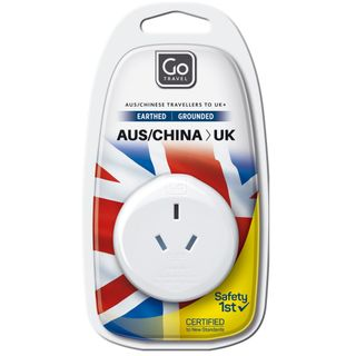 Go Travel Adaptor Aus / China - Uk Earthed