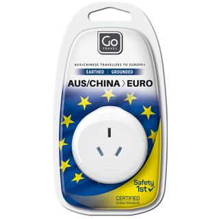 Go Travel Adaptor Aus / China - Euro Earthed