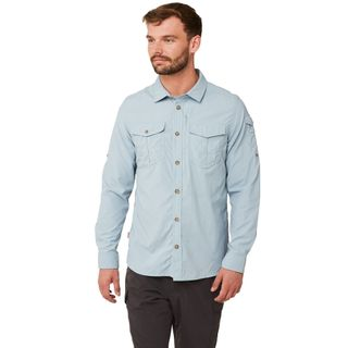 Craghoppers Nosilife Adventure Ls Shirt Fogle Blue