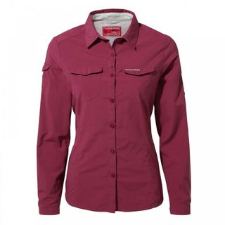 Craghoppers Nosilife Adventure Ls Shirt Amalfi Rose