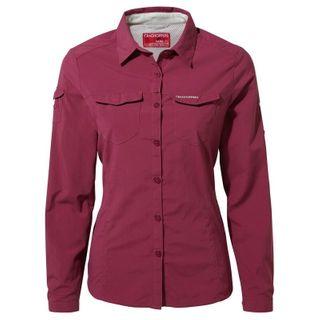 Craghoppers Nosilife Adventure Ls Shirt Amalfi Rose