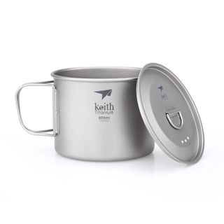 Keith Single Wall Titanium Mug With Handle / Lid 900ml