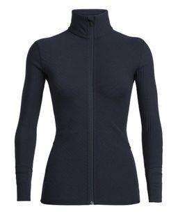 Icebreaker Women's Realfleece® Descender Long Sleeve Zip Midnight Navy