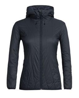 Icebreaker Women's Merinoloft Hyperia Lite Hybrid Hooded Jacket Midnight Navy