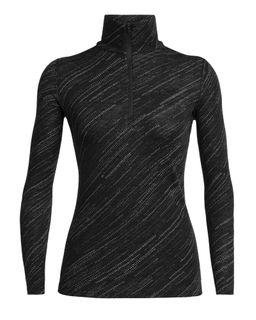 Icebreaker Women's 250 Vertex Long Sleeve Half Zip Snow Storm Black