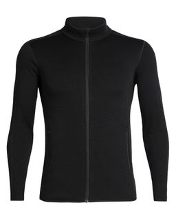 Icebreaker Men's Elemental Long Sleeve Zip Black