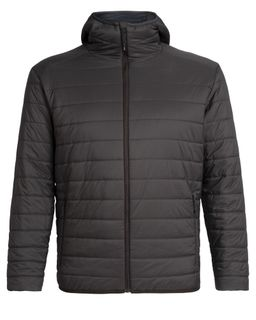 Icebreaker Men's Merinoloft Hyperia Hooded Jacket Charred