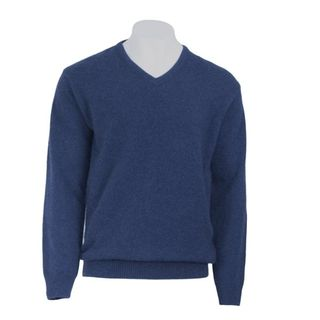 Koru V Neck Jumper Indigo