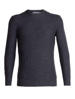 Icebreaker Mens Waypoint Crewe Sweater Charcoal Heather
