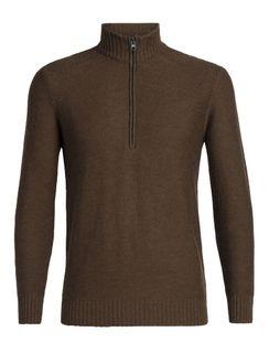 Icebreaker Mens Waypoint Half Zip Sweater Bronze Heather