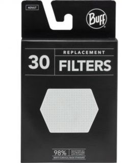 Buff Filter Mask Adult Replacement Filters 30 Pack