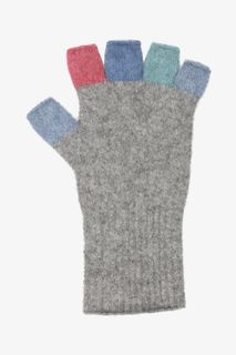 Native World Multi Fingerless Glove Silver