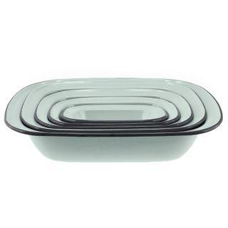 Falcon Enamel 5 Piece Pie Dish Set