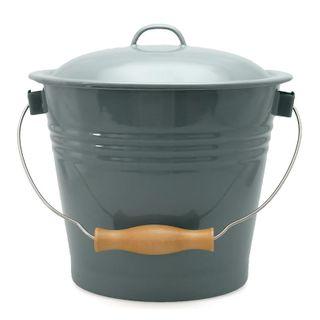 Falcon Enamel Bucket + Lid Grey 5ltr