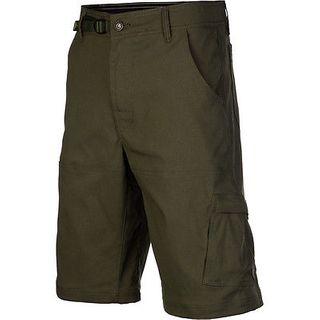 Prana Mens Stretch Zion Short Cargo Green