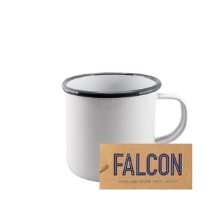 Falcon Enamel 9cm Mug White/grey