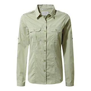 Craghoppers Womens Adventure Long Sleeve Shirt Bush Green