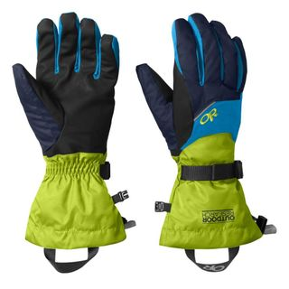 Outdoor Research Mens Adrenaline Gloves Blue / Green
