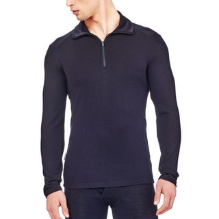 Icebreaker Mens Tech Top Thermal Longsleeve Half Zip Black