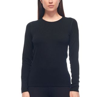 Icebreaker Womens 260 Tech Top Ls Crewe Black