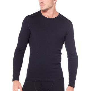 Icebreaker Mens 260 Tech Ls Crew Black