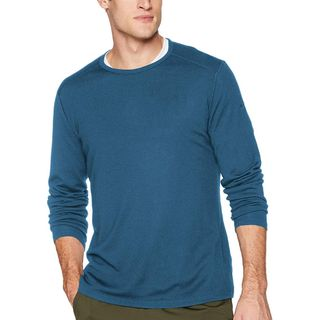 Icebreaker Mens 260 Tech Ls Crew Blue