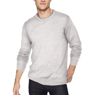 Icebreaker Mens Shearer Crewe Sweater Steel Heather