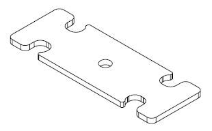 24L UB Tool Box Latch Plate