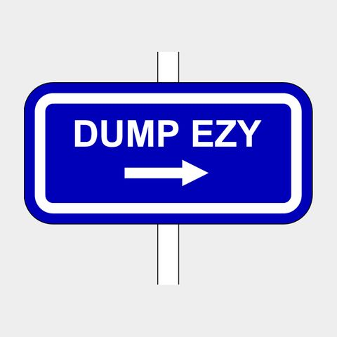 Dump Ezy Sign RHS Arrow