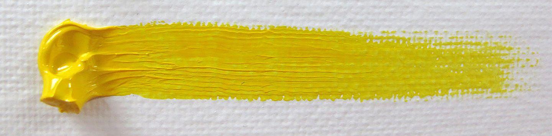 Bright yellow paint strip