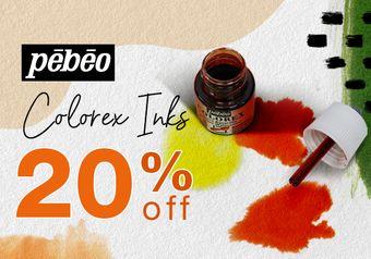 20% off Pebeo Colorex Inks