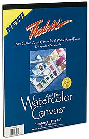 FREDRIX WATERCOLOUR CANVAS PADS