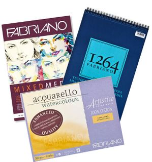 FABRIANO PAINTING & MIXED MEDIA PADS & PACKS