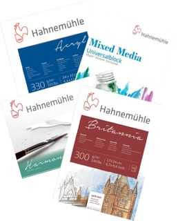 HAHNEMUHLE PAINTING & MIXED MEDIA PADS & PACKS