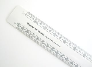 STAEDTLER ACADEMY SCALE RULE OVAL 300MM