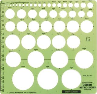 STAEDTLER DRAFTING TEMPLATE COMBO CIRCLE